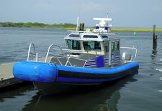 Bateau de police Photo stock