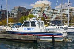 Bateau de police Images stock