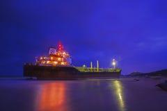 bateau de port de Hambourg de cargaison d'activités Photo stock