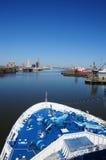 bateau de port de paquet Images libres de droits
