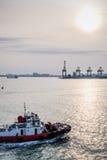 Bateau de repli au port de Penang Photographie stock