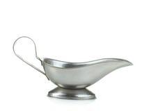 Bateau de sauce en métal Image libre de droits