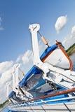 Bateau de sauvetage sur le bateau photos libres de droits