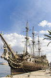 Bateau de touristes au dock, Sousse Photographie stock libre de droits