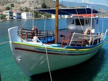 Bateau de touristes, Grèce Photographie stock libre de droits