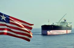 Bateau de transporteur de pétrole brut de camion-citerne photographie stock libre de droits