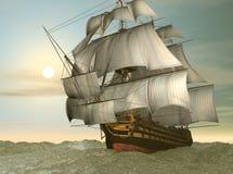 Bateau de victoire de HMS illustration stock