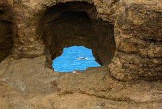Bateau de Viking sur la mer Image libre de droits