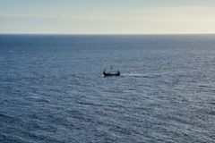 Bateau de Viking sur la mer Photo libre de droits