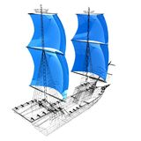 bateau du modèle 3d Image libre de droits