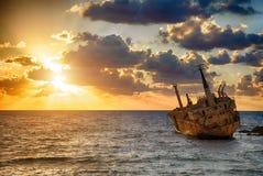 Bateau EDRO III naufragé Photos libres de droits