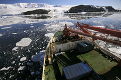 Bateau en Antarctique photographie stock