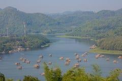 Bateau en bambou Image libre de droits