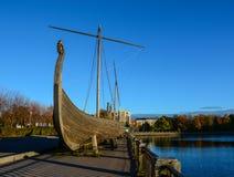 Bateau en bois de Drakkar Viking Images libres de droits
