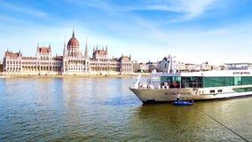 Bateau en cristal scénique Budapest, Hongrie Image libre de droits