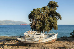 Bateau en Grèce Photos stock