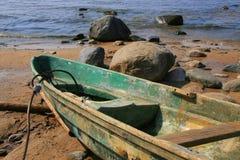 Bateau en mer Photographie stock libre de droits