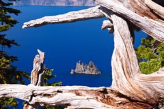 Bateau fantôme, lac crater Images libres de droits