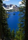 Bateau fantôme, lac crater Images stock