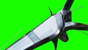 Bateau fufturistic de Sci fi Concept d'avenir Écran vert rendu 3d Image libre de droits