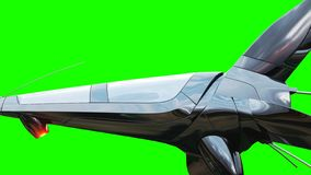 Bateau fufturistic de Sci fi Concept d'avenir Écran vert rendu 3d illustration de vecteur
