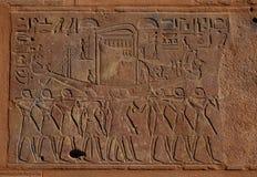 Bateau funèbre égyptien images libres de droits