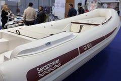 Bateau gonflable de Seapower - salon nautique Roma Photo libre de droits