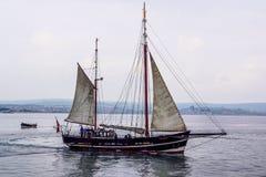 Bateau grand dans Weymouth photos libres de droits