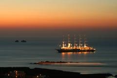 Bateau grand, Paros, Grèce Photo libre de droits