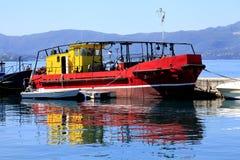 Bateau grec, Corfou, Grèce photographie stock libre de droits