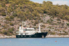 Bateau grec dans le port Images libres de droits