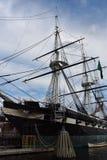 Bateau historique d'USS Constellation à Baltimore, le Maryland Image stock