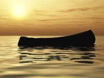 bateau isolé illustration stock