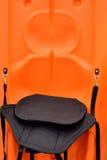 Bateau léger avec la couleur orange Images libres de droits