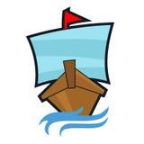 Bateau Logo Template Photos stock