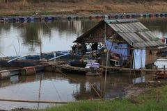 bateau-maison Photo libre de droits