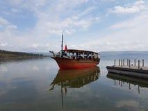 Bateau - mer de la Galilée photographie stock libre de droits