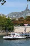 Bateau Mouche on the Seine river in Paris Royalty Free Stock Photography