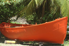 Bateau orange Photographie stock