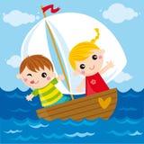 bateau petit Image stock