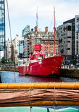 Bateau-phare de Liverpool Photos stock