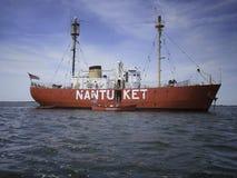 Bateau-phare de Nantucket Photographie stock libre de droits