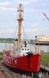 Bateau-phare Portsmouth (LV-101) des Etats-Unis Photographie stock