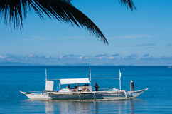 Bateau philippin traditionnel Images stock