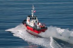 Bateau pilote dans Victoria Image stock