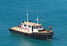 Bateau pilote de Nassau Image libre de droits