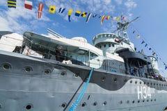 Bateau polonais Gdynia de musée du destroyer ORP Blyskawica Photos libres de droits
