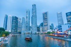Bateau Quay à Singapour Photographie stock libre de droits