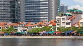 Bateau Quay à Singapour Image libre de droits