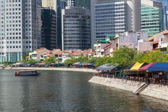 Bateau Quay à Singapour Images stock